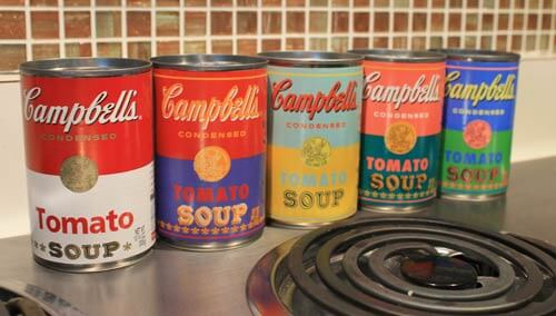 limited edition warhol-campbells-soup-label
