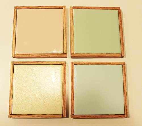 vintage tile coaster-set