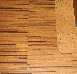 striped cork-floor