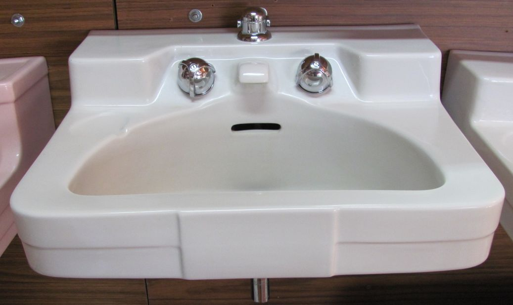 Antique bathroom designs - Henry Dreyfuss Designed Crane Sinks How To Tell If Yours