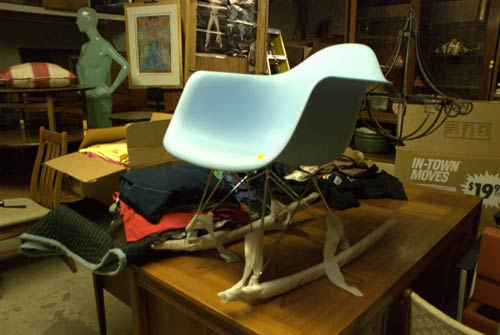 eames shel lrocker chair