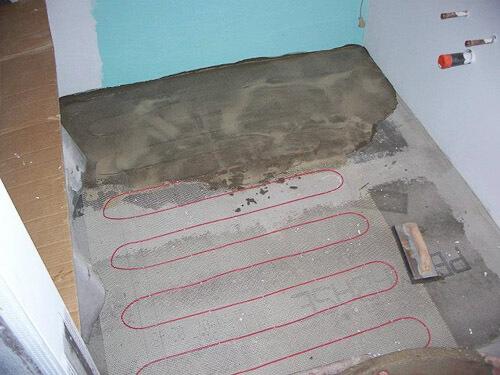 electric floor warmer under tile