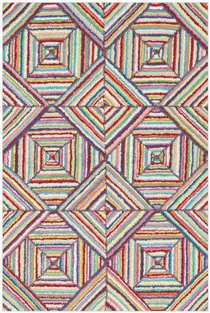 hooked rug kaledo bright