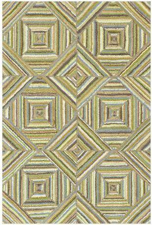 hooked rug kaledo green