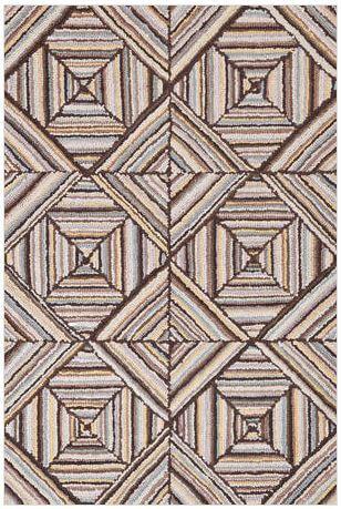 hooked rug kaledo gray