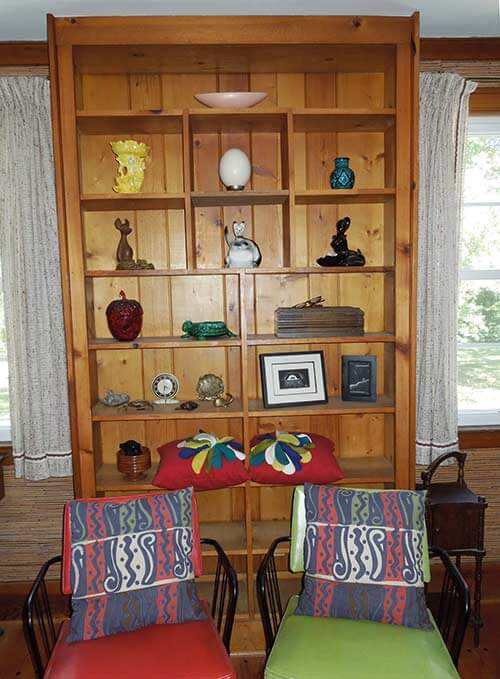 knotty-pine-retro-built in cabinet