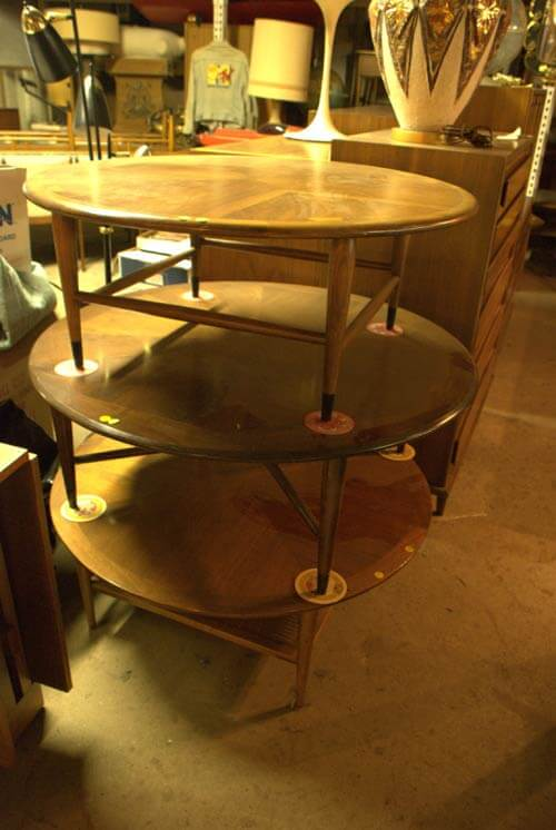 mid century lane tables