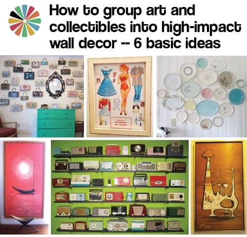 Retro Wall Decor how to group art and collectibles into high-impact wall decor - 6
