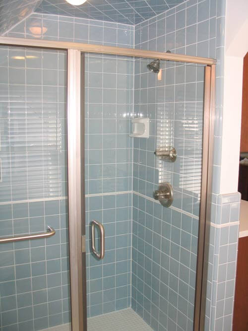 Blue Tile Bathroom matt & jeff's timeless blue tile bathroom remodel - retro renovation