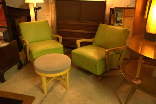 retro green chairs