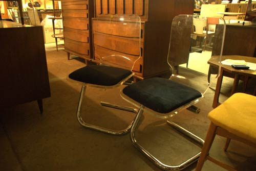 retro lucite chairs