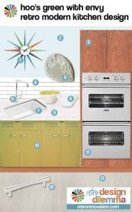 st charles retro modern green kitchen