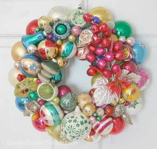 shiny brite holiday wreathe from georgia peachez