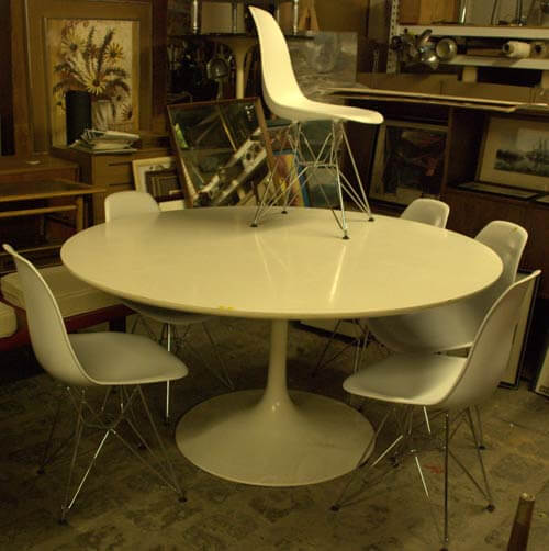 tulip table and chairs vintage saarinen