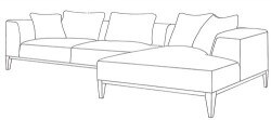 velvet sofa Younger Furniture