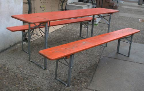 vintage picnic table