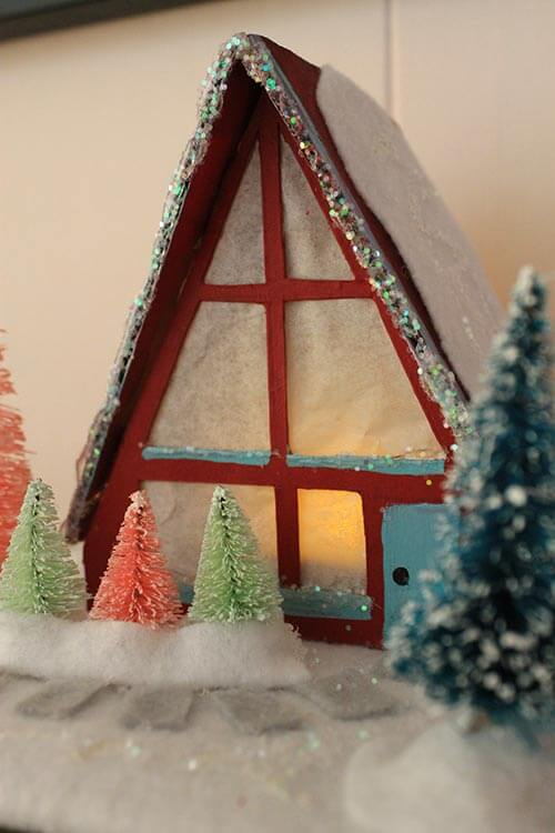 A-frame-retro-christmas-house