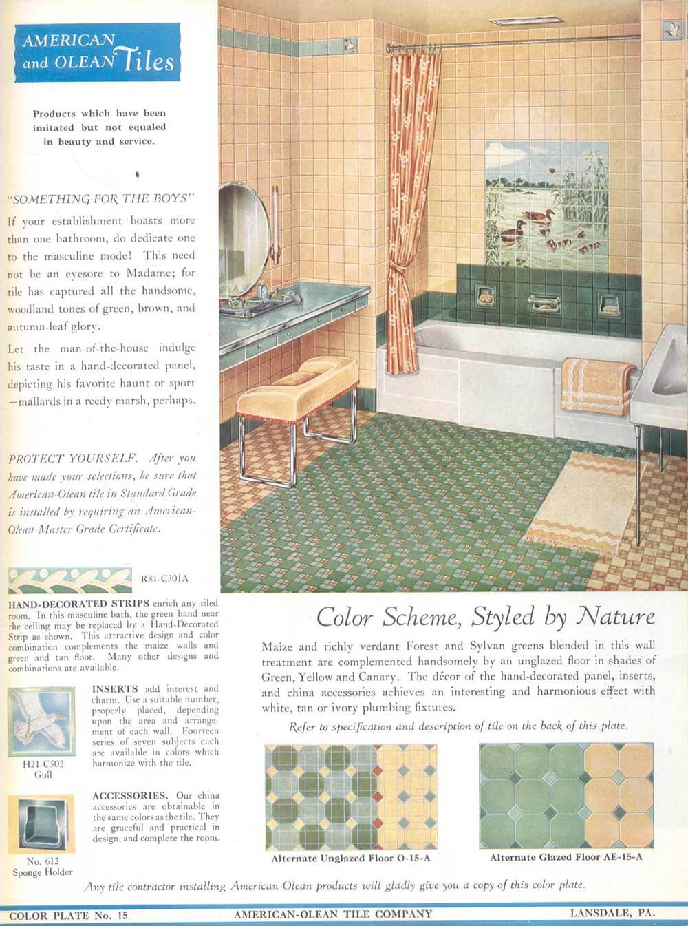 Franklin Tile Company And American Olean Decorative Tile