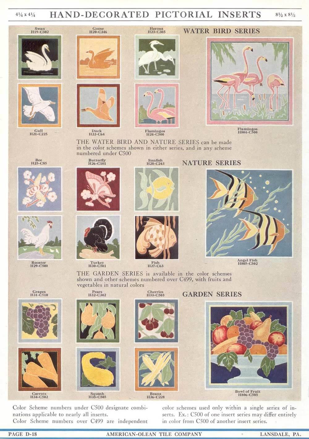 American-Olean-tiles-birds-nature-garden