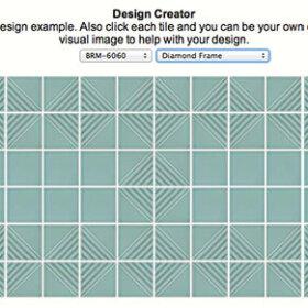 Diamond-frame-pattern