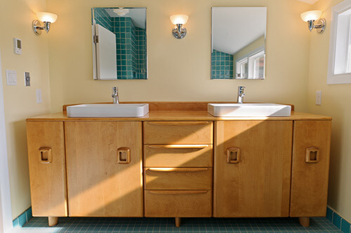 Simple Heywood Wakefield style custom vanity