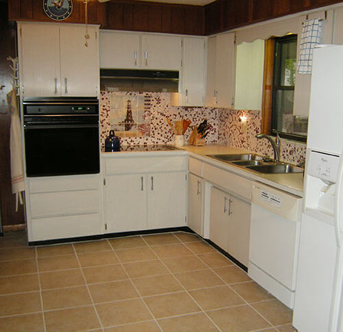 Old Kitchen Tile: Diane's Floor And Elaine's Backsplash