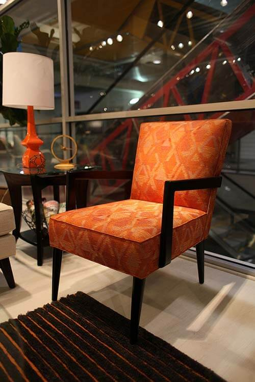 Orange-and-walnut-chair-Younger-Ave-62