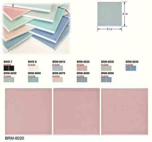 Ceramic Bathroom Tile In Useful Basic Shapes And Retro Colors From American Universal Retro