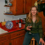 bonnie jo campbell in her red kitchen