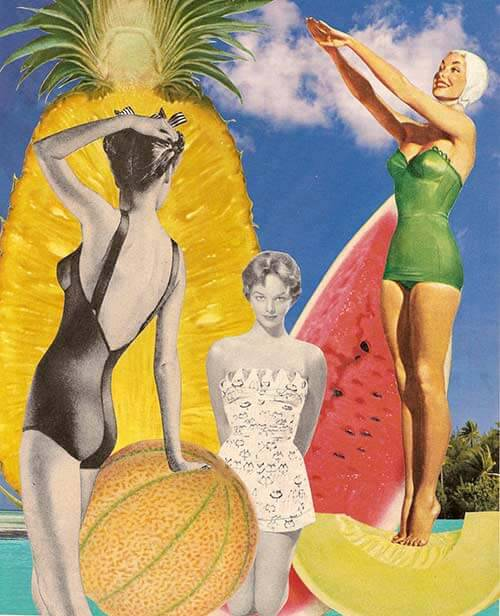 freshfruit vintage retro collage