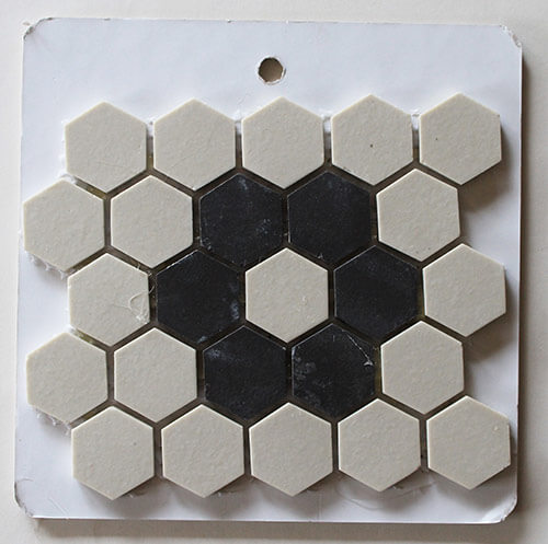 Merola Tile Old World Unglazed Hex Flower