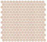 Margie's peachy keen penny round mosaic bathroom floor tile