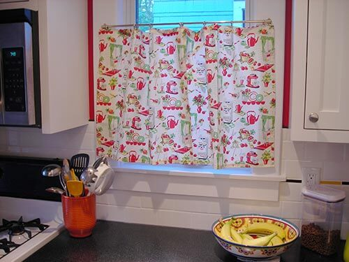 Stunning retro kitchen cafe curtains