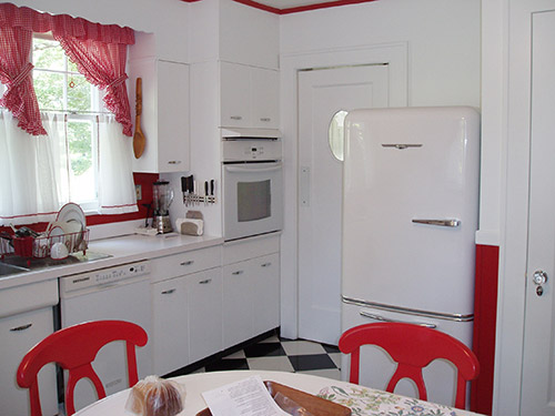 retro country kitchen david creates a and white vintage kitchen for 1927