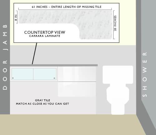 Bath-vanity-solution-for missing tile retro bathroom