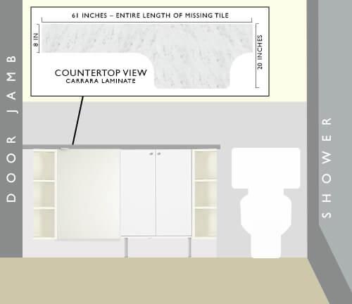 Bath-vanity-solution-for missing retro tile bathroom