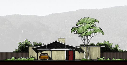 Historic mid century modern house plans for sale today Retro