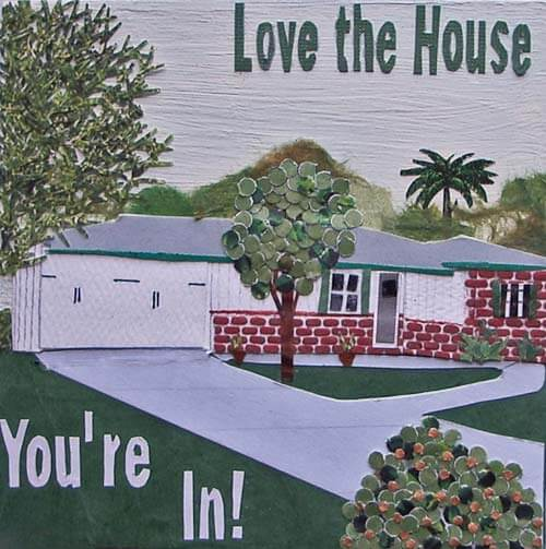 love the house you're in collage Mel Kolstad