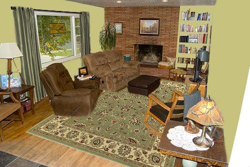 Living-room-green-bookshelf
