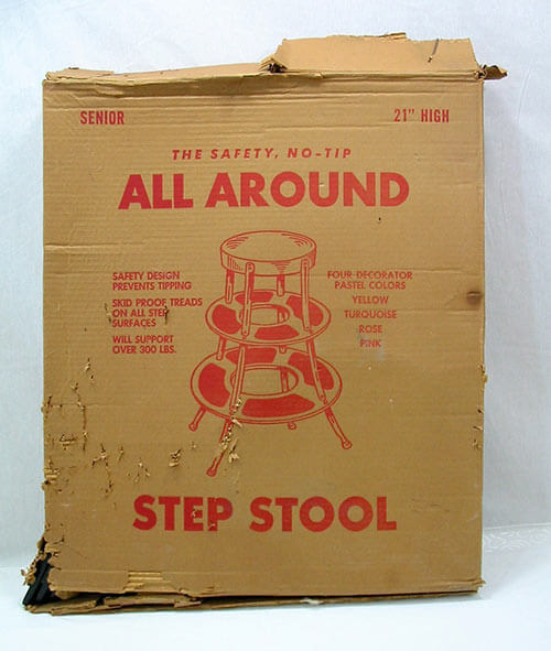 NIB-retro-step-stool-metal