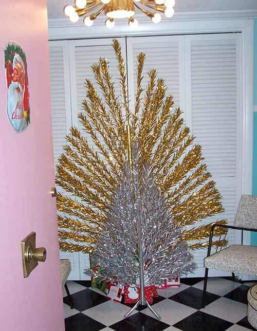 "Flat Evergleam ""Peacock"" aluminum Christmas trees - a ..."