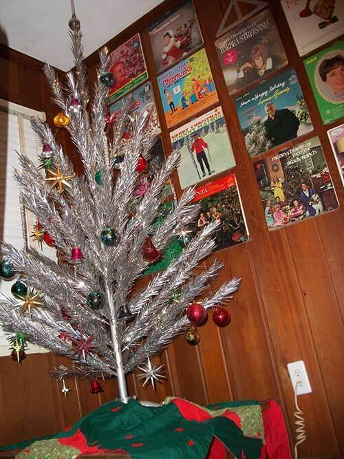 aluminum christmas tree - Vintage Tinsel Christmas Tree