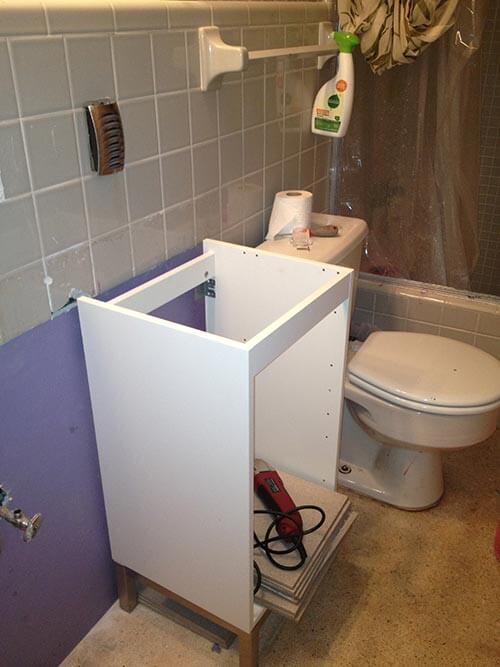 Three ideas for the vanity in Cathy\'s narrow gray bathroom - Retro ...