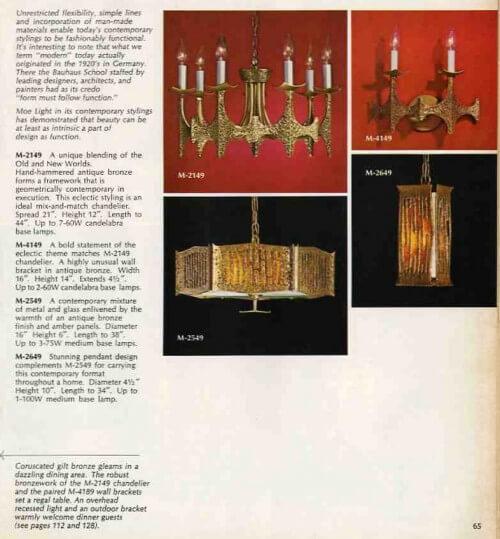 moe lighting vintage 1969