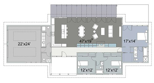 Exceptional Cliff May Inspired Home Plan. 445 1_floor Plan Detail
