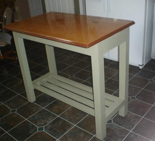kitchen island genius idea: upcycle a vintage metal table