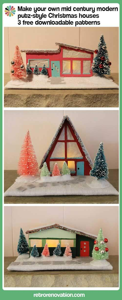 one is a house two makes neighbors and three is a neighborhood which is why i didnt stop at just two mid century inspired putz style houses - How To Decorate A Ranch Style Home For Christmas