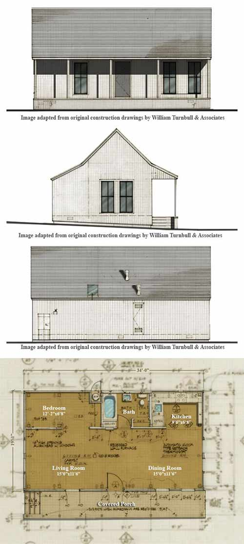 the three william turnbull sea house house plans - The Redwood House Plans 1960s