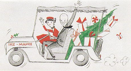 mamie eisenhower dwight eisenhower vintage christmas card
