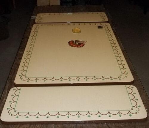 porcelain enamel table top